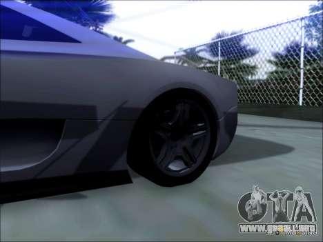 Scalfati GT (Watch Dogs) para GTA San Andreas vista posterior izquierda
