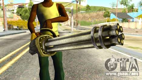 Minigun from Redneck Kentucky para GTA San Andreas tercera pantalla