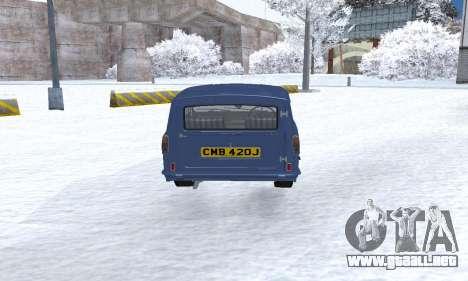 Reliant Supervan III para visión interna GTA San Andreas