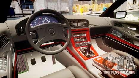 BMW E31 850CSi 1995 [EPM] Carbon para GTA 4 vista interior
