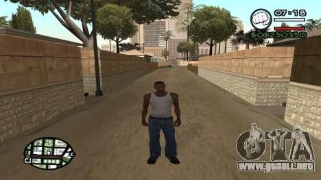 C HUD King Ghetto Life para GTA San Andreas