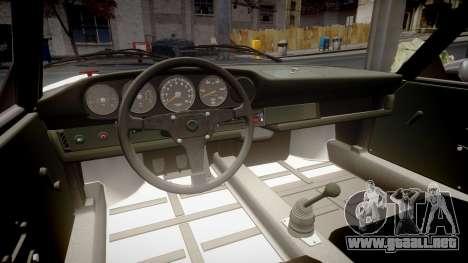 Porsche 911 Carrera RSR 3.0 1974 PJ53 para GTA 4 vista interior