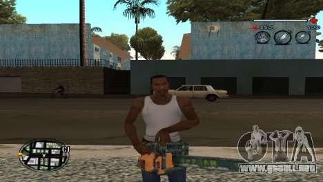C-HUD Gray para GTA San Andreas tercera pantalla