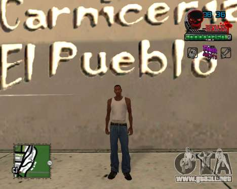 C-HUD Tawer Ghetto para GTA San Andreas segunda pantalla