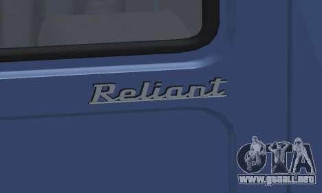 Reliant Supervan III para la vista superior GTA San Andreas