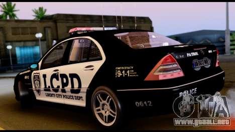 Mercedes-Benz C32 AMG Police para la visión correcta GTA San Andreas
