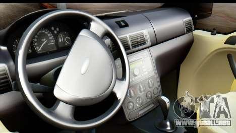 Ford Transit Tourneo Connect Camli Van para GTA San Andreas vista posterior izquierda