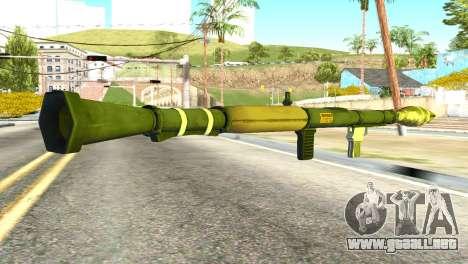 Rocket Launcher from GTA 5 para GTA San Andreas segunda pantalla