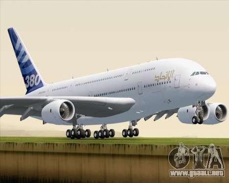 Airbus A380-800 F-WWDD Etihad Titles para GTA San Andreas