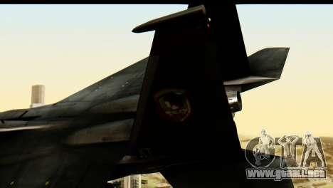 F-15 Razgriz para GTA San Andreas vista posterior izquierda