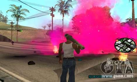New Pink Effects para GTA San Andreas segunda pantalla