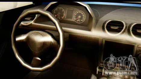 GTA 5 Obey 9F Cabrio para GTA San Andreas vista posterior izquierda
