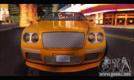 Enus Cognoscenti Cabrio (GTA V) (IVF) para la visión correcta GTA San Andreas