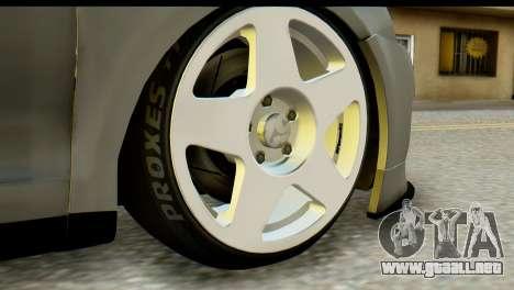 Volkswagen Bora GLI 2010 Tuned para GTA San Andreas vista posterior izquierda