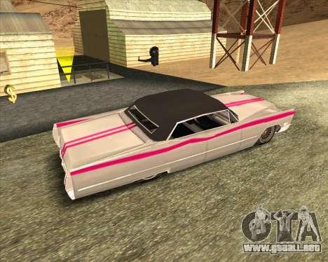 Cadillac DeVille Lowrider 1967 para la visión correcta GTA San Andreas