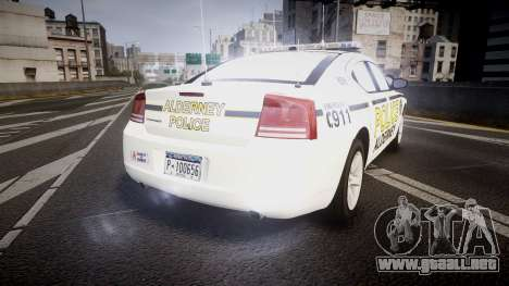Dodge Charger 2006 Alderney Police [ELS] para GTA 4 Vista posterior izquierda