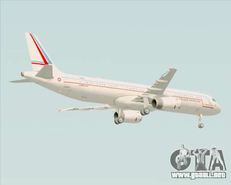 Airbus A321-200 French Government para GTA San Andreas vista hacia atrás