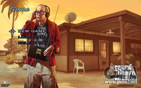 GTA 5 Menú para GTA San Andreas tercera pantalla