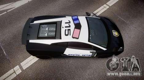 Lamborghini Gallardo LP570-4 LCPD [ELS] para GTA 4 visión correcta