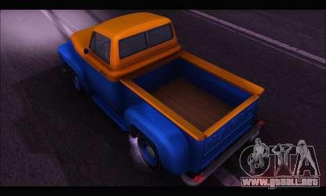 Vapid Slamvan (GTA V) para GTA San Andreas vista posterior izquierda