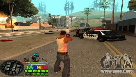 C-HUD Tasher para GTA San Andreas tercera pantalla