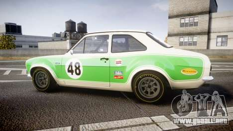 Ford Escort RS1600 PJ48 para GTA 4 left
