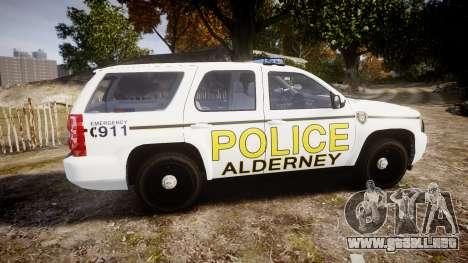 Chevrolet Tahoe 2010 Police Alderney [ELS] para GTA 4 left