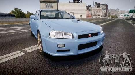 Nissan Skyline R34 GT-R V.specII 2002 para GTA 4