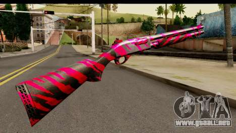 Red Tiger Shotgun para GTA San Andreas segunda pantalla