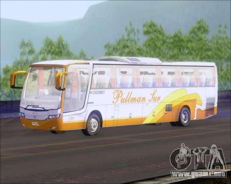 Busscar Vissta Buss LO Pullman Sur para GTA San Andreas vista posterior izquierda