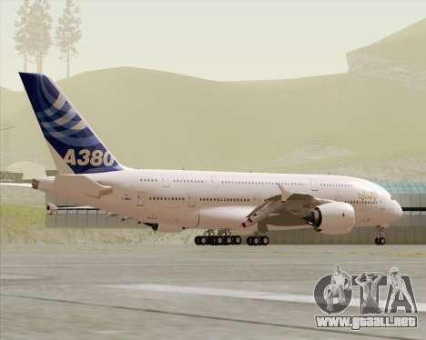 Airbus A380-800 F-WWDD Etihad Titles para la vista superior GTA San Andreas