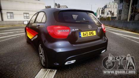 Mersedes-Benz A45 AMG PJs1 para GTA 4 Vista posterior izquierda