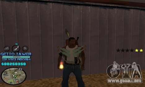 C-HUD Ghetto by Inovator para GTA San Andreas segunda pantalla