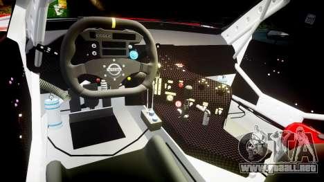 Nissan Skyline R34 2003 JGTC Pennzoil para GTA 4 vista hacia atrás
