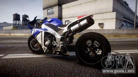 Yamaha YZF-R1 Custom PJ2 para GTA 4 left
