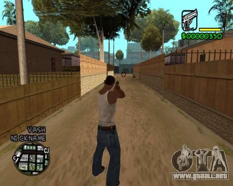 C-HUD by Tawerhudov para GTA San Andreas segunda pantalla