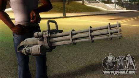 Minigun from GTA 5 para GTA San Andreas tercera pantalla