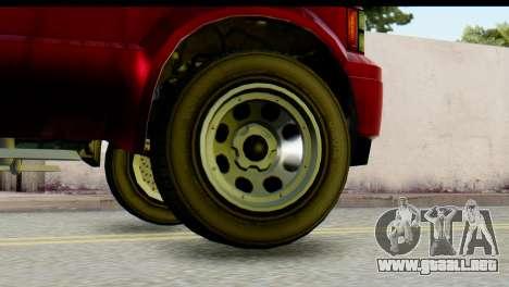 GTA 5 Vapid Sadler IVF para GTA San Andreas vista posterior izquierda