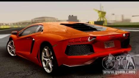 Lamborghini Aventador para GTA San Andreas left