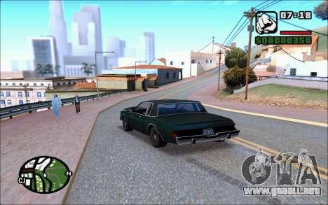 Ivy ENB June para GTA San Andreas sucesivamente de pantalla