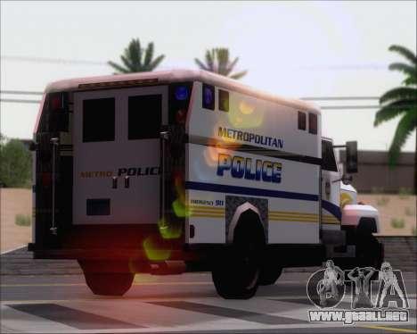 Enforcer Metropolitan Police para vista lateral GTA San Andreas