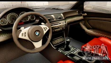 BMW M3 E46 GTR NFS MW para GTA San Andreas vista hacia atrás