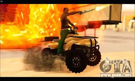 ATV Army Edition v.3 para vista lateral GTA San Andreas