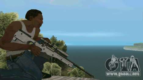 Metal AWP L96A1 para GTA San Andreas tercera pantalla