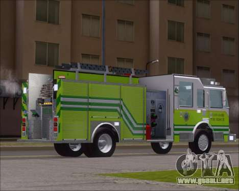 Pierce Arrow XT Miami Dade FD Engine 45 para la visión correcta GTA San Andreas