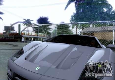 Scalfati GT (Watch Dogs) para GTA San Andreas vista hacia atrás