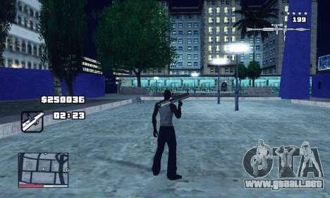 C-HUD GTA 4 with Map para GTA San Andreas