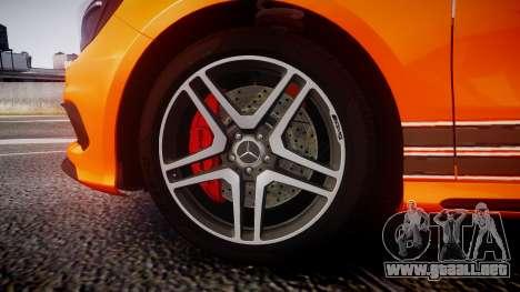 Mersedes-Benz A45 AMG PJs4 para GTA 4 vista hacia atrás