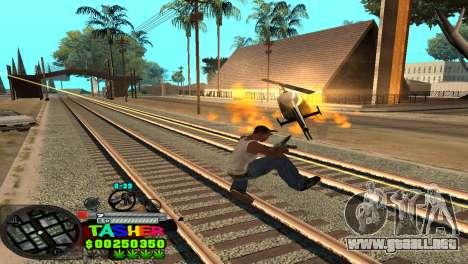 C-HUD Tasher para GTA San Andreas sexta pantalla