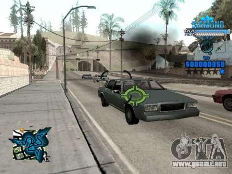 C-HUD Blek-Pro Diamond para GTA San Andreas sucesivamente de pantalla